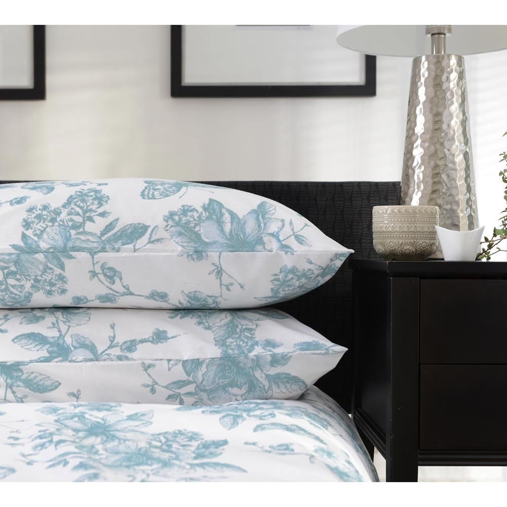 Jardin Quilted Velvet Quilt Cover: Jardin Duck Egg Bed Linen Set (With Images)