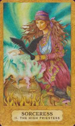 I love this amazing deck it is certainly on my list to buy soon ;) Sorceress (The High Priestess) - Chrysalis Tarot