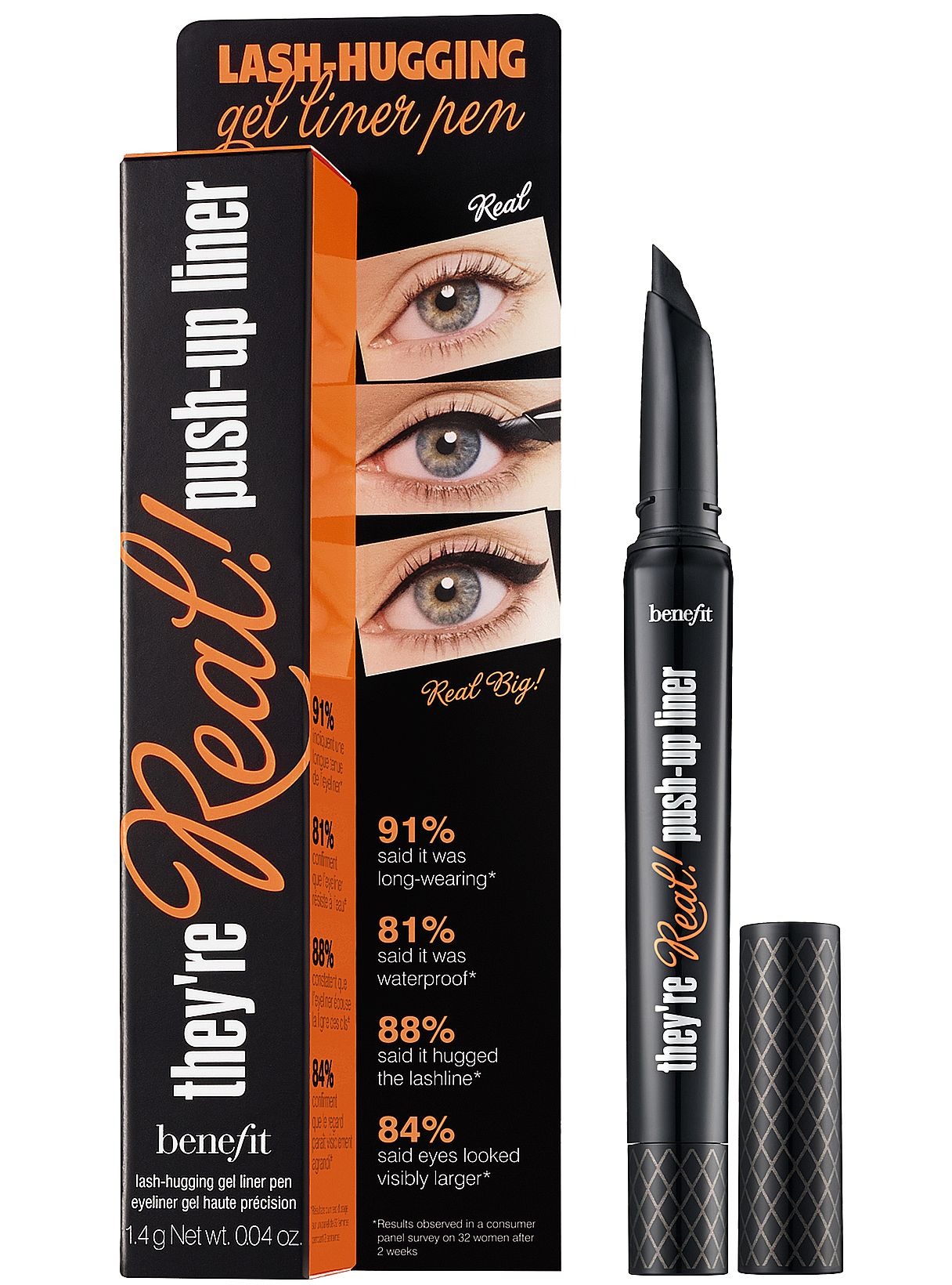 Benefit They're Real Push-Up Liner lash-hugging gel liner pen with ...
