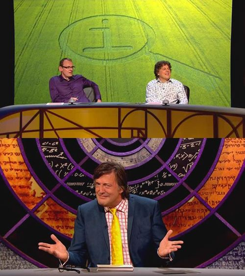 "[on the QI crop circle]   Stephen: The extraordinary thing is that almost within half an hour of it being completed and the dawn rising, we were contacted by people, some of them wanted to know, they said ""Is it real or is it man-made?"""