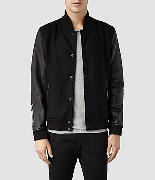 Men's Milo Bomber Jacket (Black) -