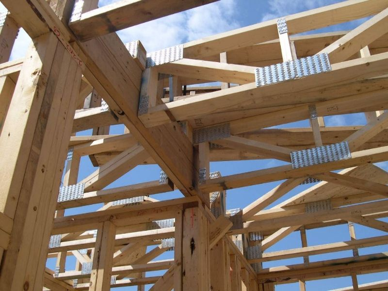 Wood floor trusses itnuupx wood pinterest woods for Open web trusses