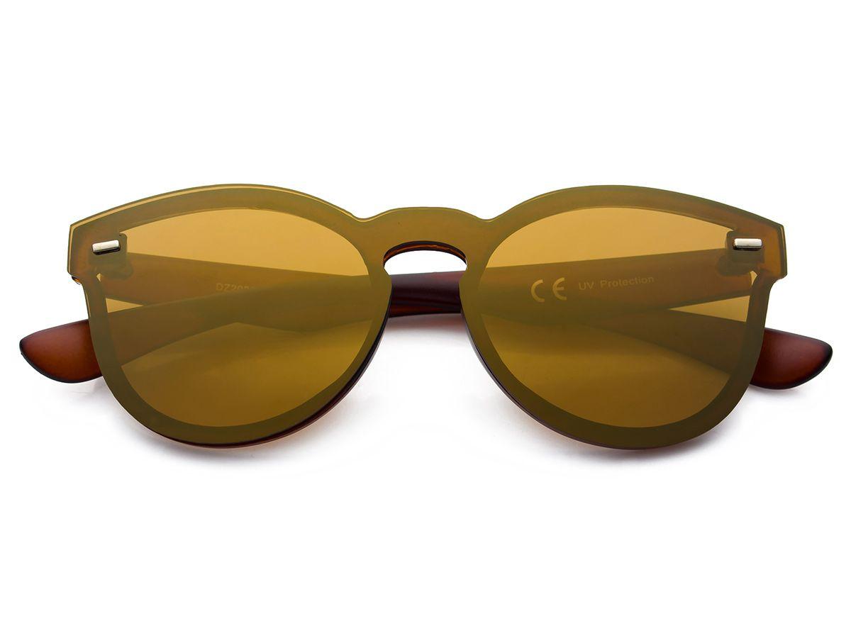 cbd849e14356b3 Stylowe damskie okulary przeciwsłoneczne. Lekka transparentna oprawa  zapewnia wysoki komfort użytkowania, a lustrzana powłoka