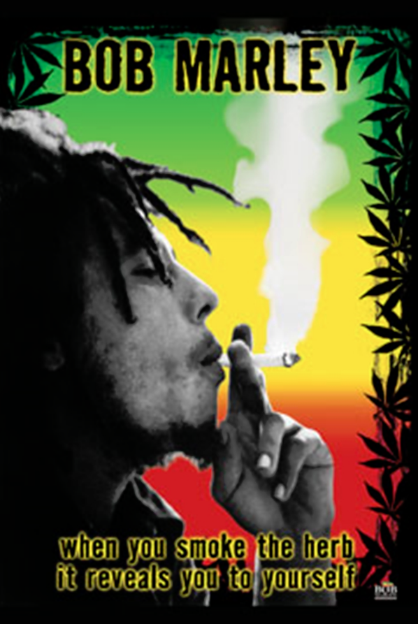 Bob Marley Smoke The Herb Poster Bob Marley Poster Bob Marley Art Poster Prints