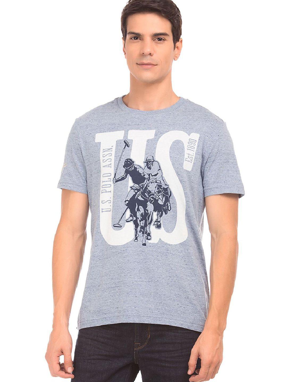 24706b970 U S Polo grey printed t-shirt - G3-MTS6491 | G3fashion.com | t ...
