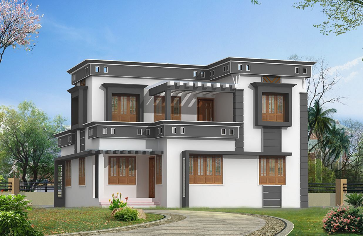 Awesome 22 Modern Home Exterior Color That Your Home Inspiration Https Decoor Net 22 House Balcony Design Kerala House Design Modern Contemporary House Plans
