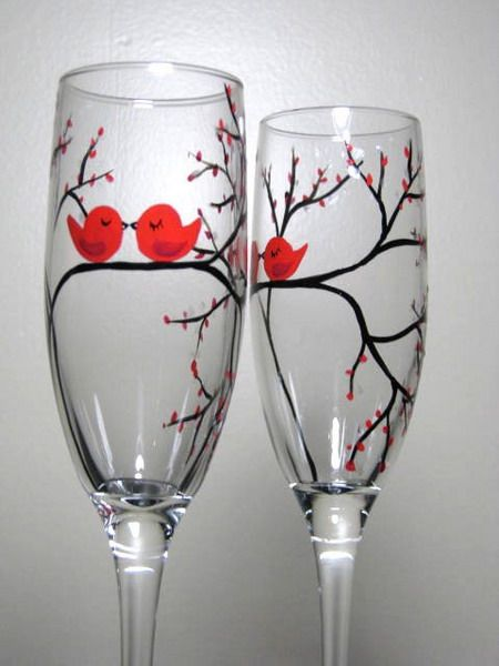 Wine glass painting patterns wine glass painting for Diy painted wine glasses