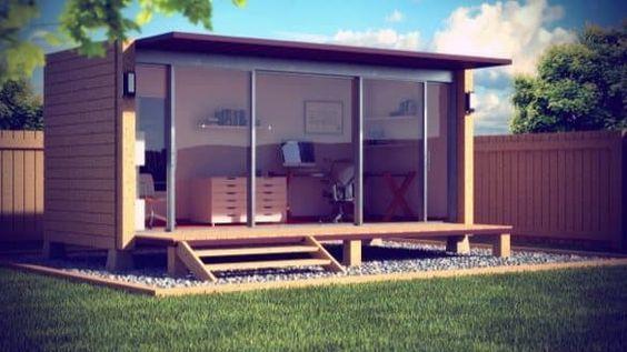 Dise o de una oficina para jard n a partir de un for Diseno de oficinas con contenedores