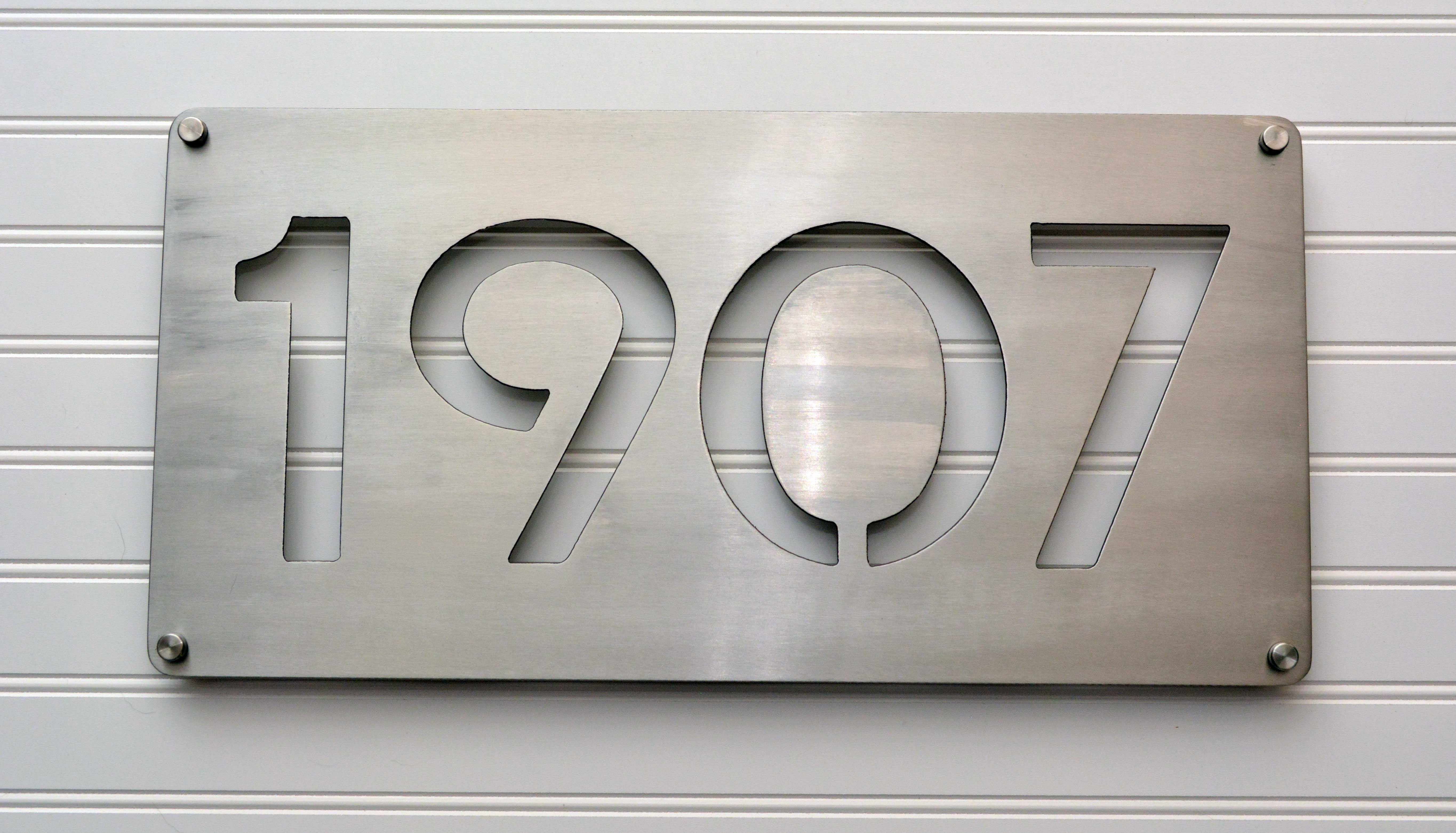 Stainless Steel House Number With Stainless Stand Offs Steel House Metal House Numbers Custom House Numbers