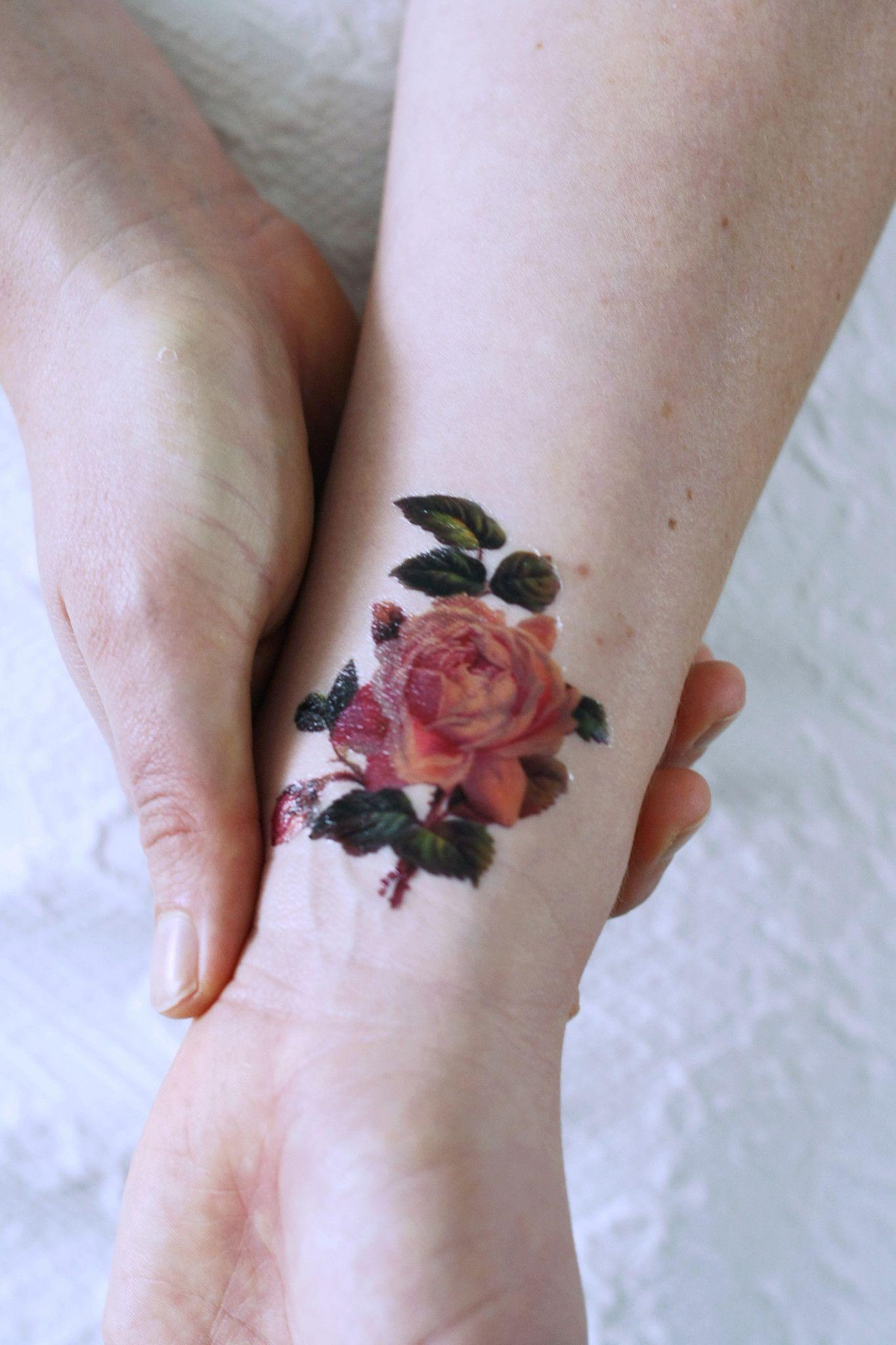 Small Pink Rose Temporary Tattoo Random Pinterest Rose Tattoo