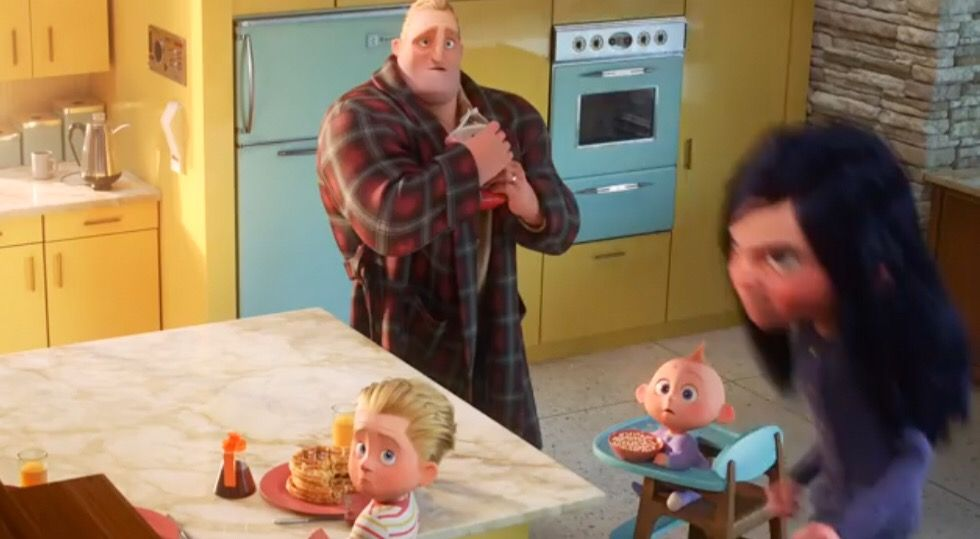Jack Jack Dash Bob Scared Of Angry Violet Incredibles 2 Incredibles2 Jack Jack Los Increibles Los Increibles Enojo