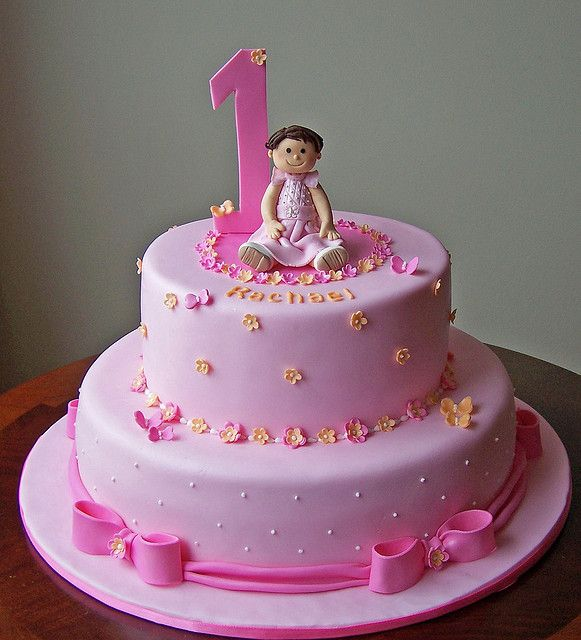 First Birthday Cake For Rachael Baby Birthday Cakes Baby First