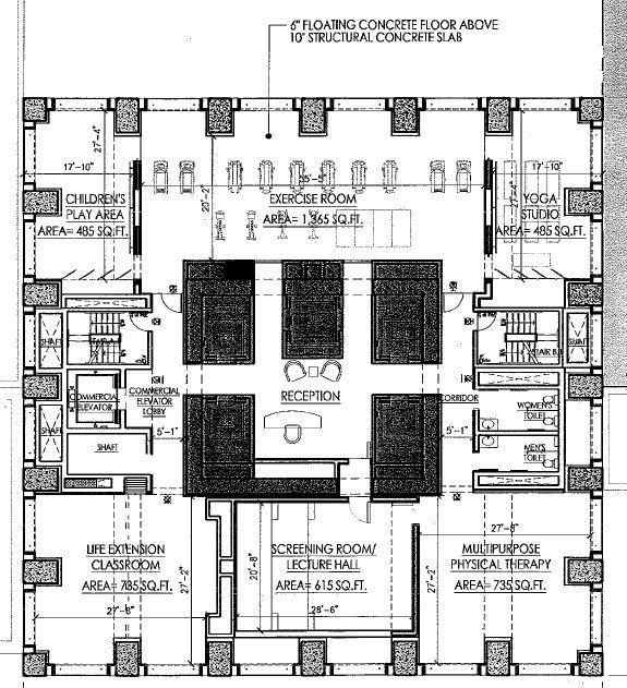 Gym Plans Floor Plan: Gym And Services Floor