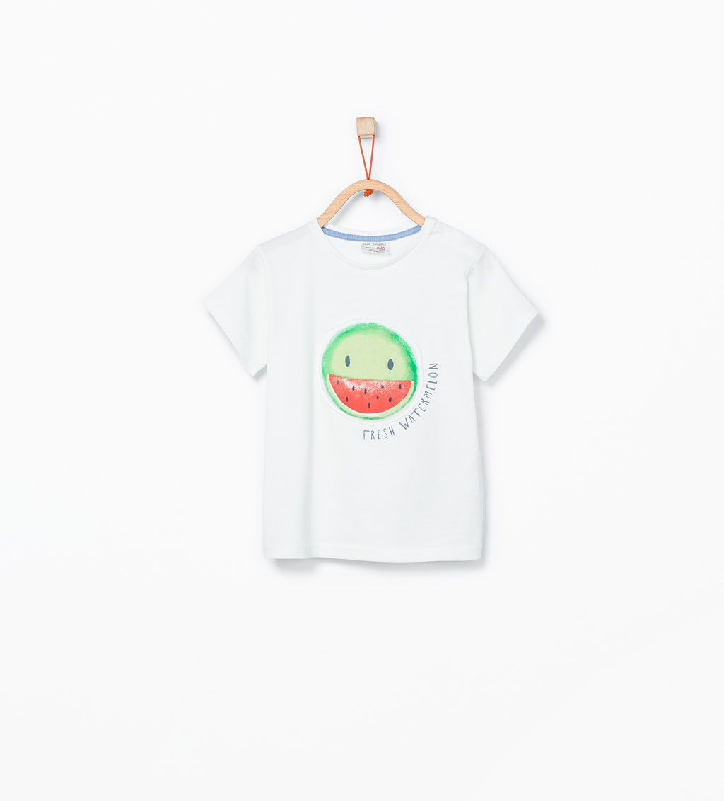 43222beb8ca ZARA - NIÑOS - Camiseta cara sandia   2G TEES   Watermelon face ...