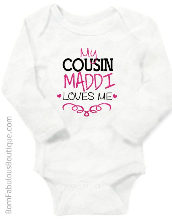 New baby gift from cousin cousin gift cousins gift new baby gift personalized baby clothes cousin gift cousins by bornfabulouskids negle Gallery