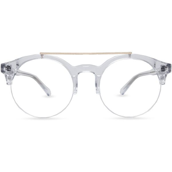 Unisex semi-rimless acetate  eyeglasses ($29) ❤ liked on Polyvore featuring accessories, eyewear, eyeglasses, acetate eyeglasses, acetate glasses, semi rimless glasses, semi rimless eyeglasses and unisex glasses