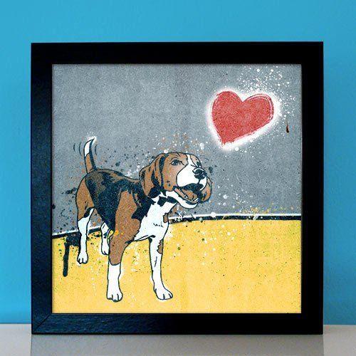 Pitbull american terrier Hund Bild Popart Foto pop-dogs Portrait Porträt Poster