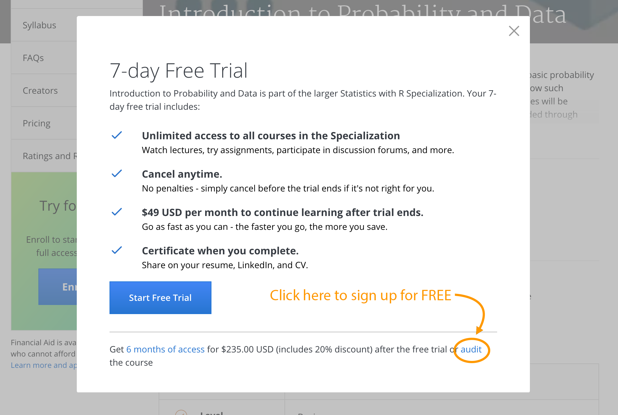 How to Sign up for Coursera Courses for Free (With images