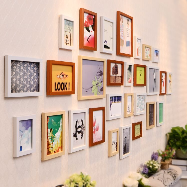 Find More Frame Information about 28 Picture Frames Hanging On Wall ...