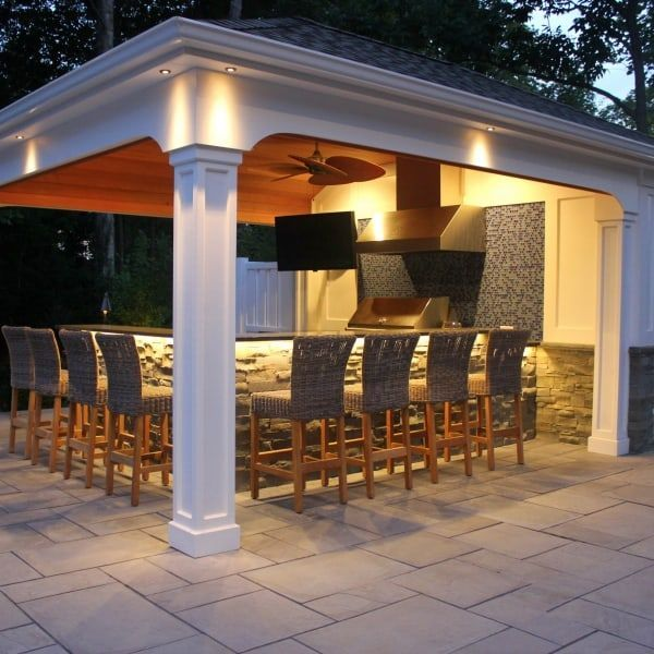 15 x 22 custom pool house cabana with outdoor kitchen bar storage rh pinterest com