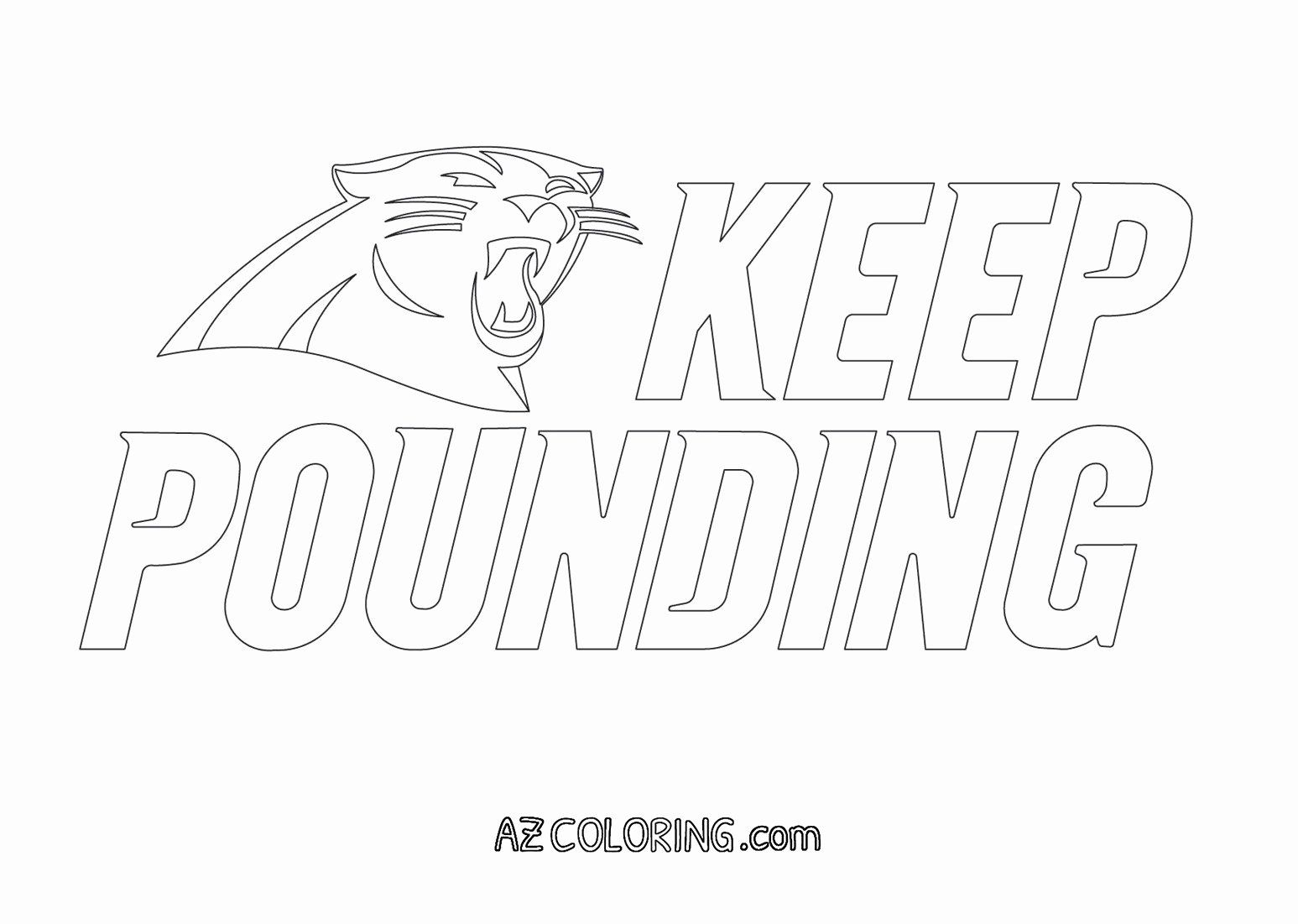 Carolina Panthers Coloring Page Lovely Carolina Panthers Coloring Sheets Carolina Panthers Logo Carolina Panthers Coloring Pages