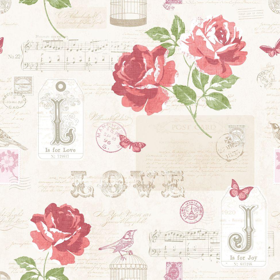 Floral Wallpaper Love Notes Http Wwwmurivacom Portfolios