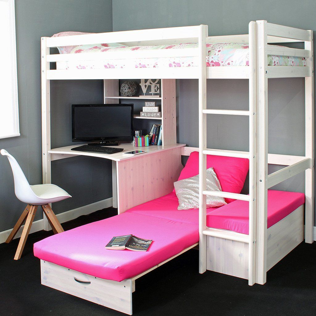 7c4e7d2f83fa Thuka Hit High Sleeper Bed with Desk & Chairbed en 2019 | Stinkin ...