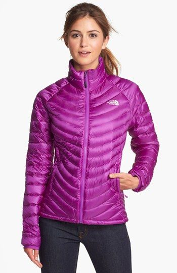 North face women's down jacket purple