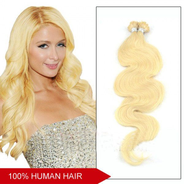 18 Inch Silky Body Wave 100pcs Popular Nail Tip Human Hair