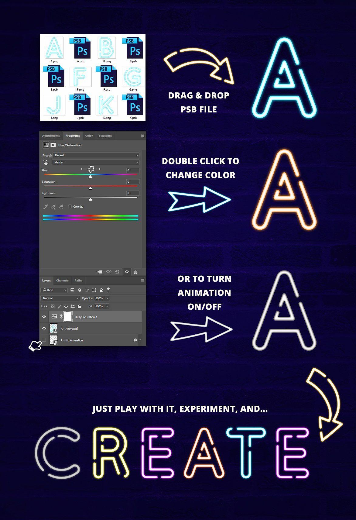ANIMATED Neon Social Media Kit Media kit, Social media