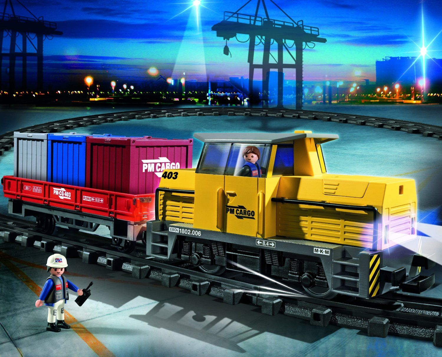 PLAYMOBIL RC Freight Train Action!