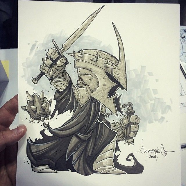 The chibi witch king! My first lord of the rings art! Great request from #NYCC - my #inktober for today. Thanks everyone who stopped by the table. New York has been amazing!