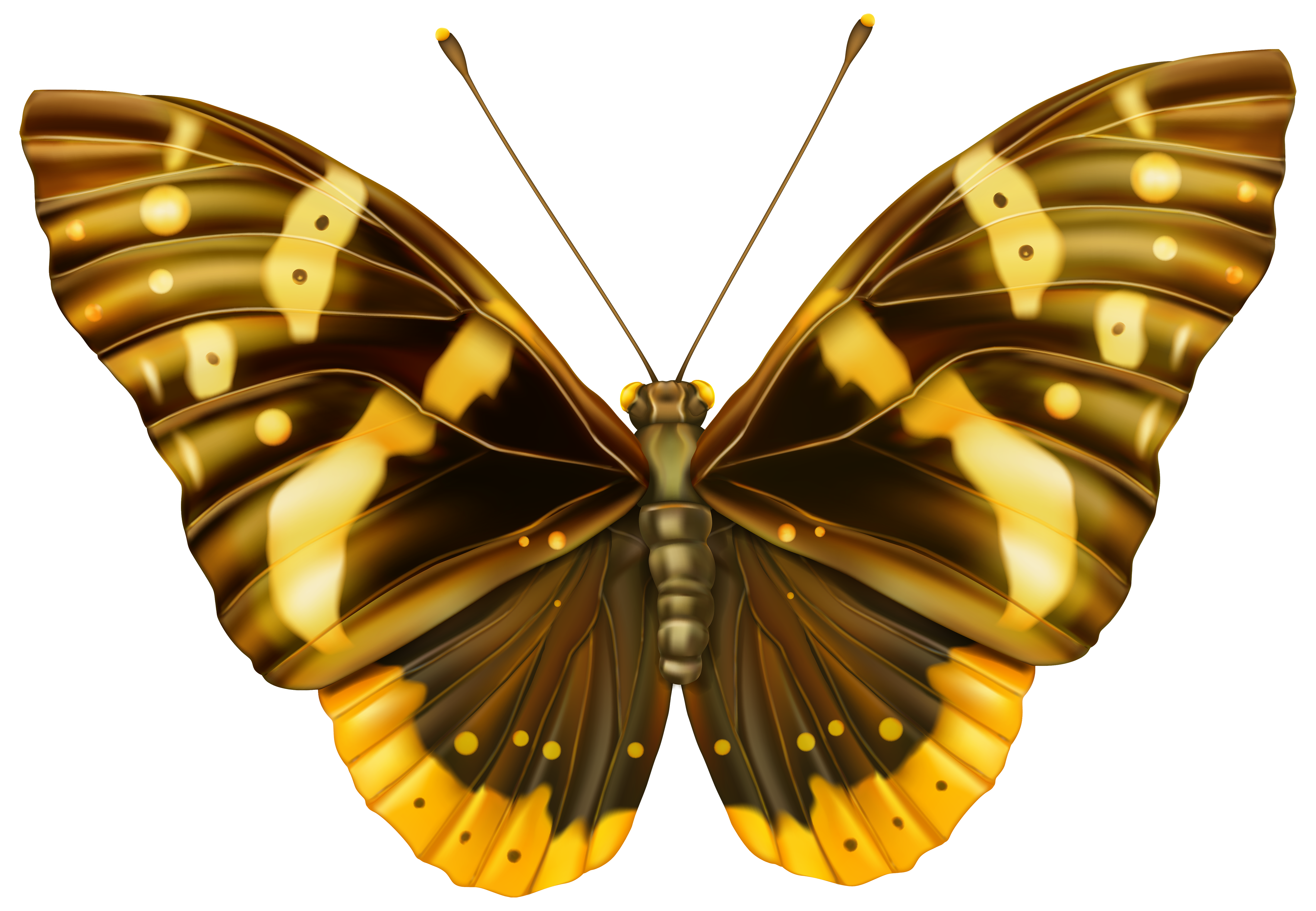 Brown And Yellow Butterfly Clipart Png Image Butterfly Clip Art Butterfly Drawing Butterfly Painting