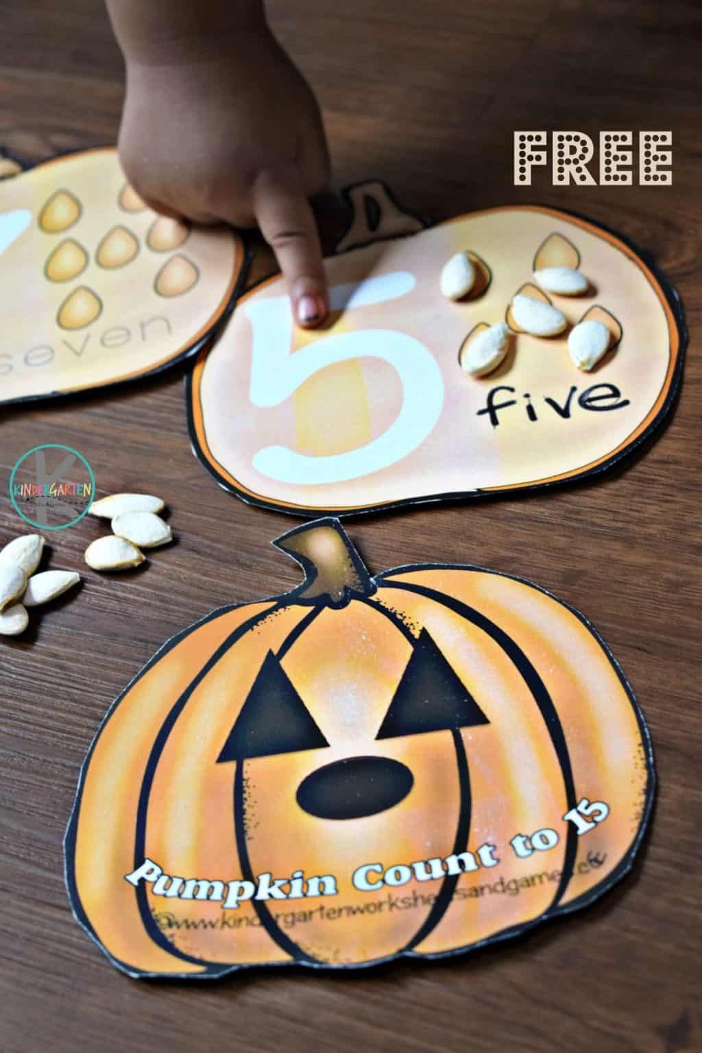 Free Pumpkin Count To 10 Cards