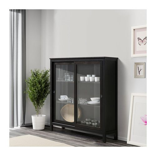 hemnes vitrine schwarzbraun in 2019 ikea pinterest vitrine m bel und schrank design. Black Bedroom Furniture Sets. Home Design Ideas