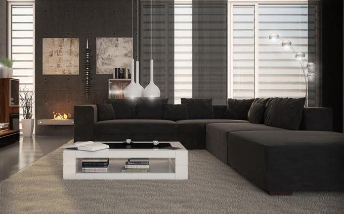 Wohnzimmer Anthrazit 3