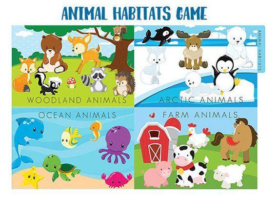 Image of: Lif Animal Habitats File Folder Game Printable Downloadable Pdf Pinterest Animal Habitats File Folder Game Printable Downloadable Pdf