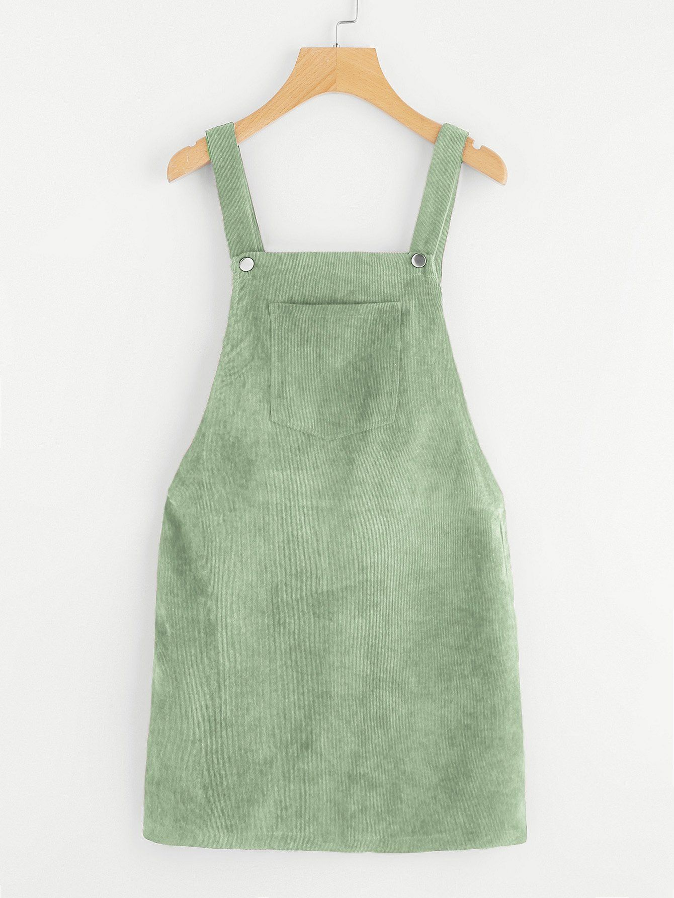 Bib Pocket Front Overall Dress Overall Dress Fashion Clothes [ 1785 x 1340 Pixel ]