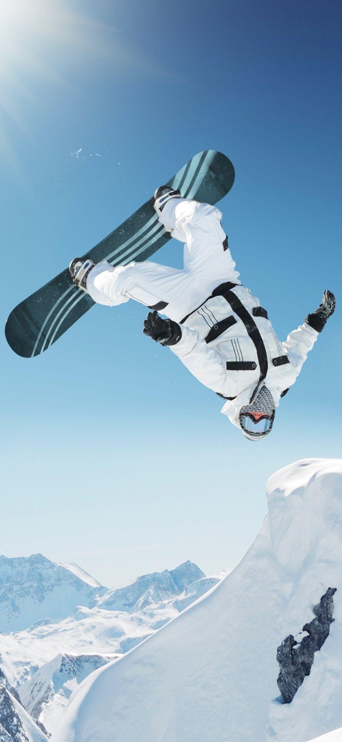 Snowboard iPhone X Wallpaper HD High Resolution 1125 x
