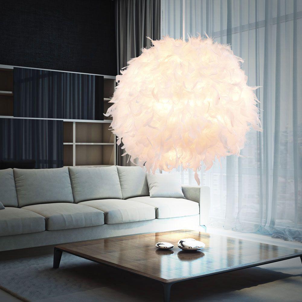 Design Feder Pendel Lampe Ess Zimmer Decken Hänge Beleuchtung