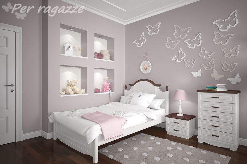 Białe łóżko Dla Dziewczynki Perragazze łóżka Dla Dzieci