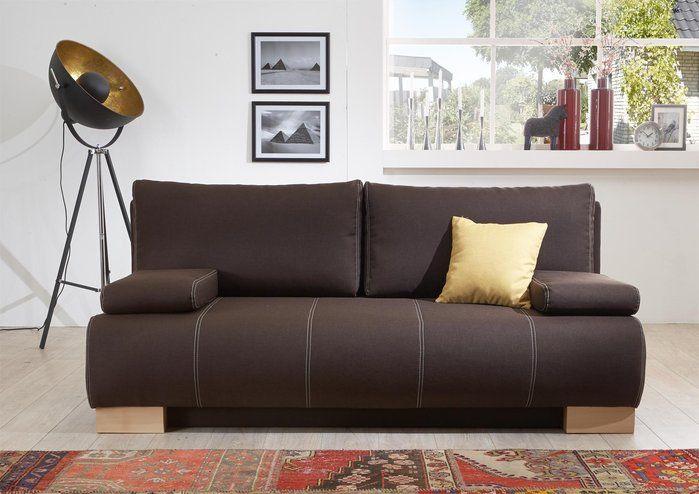 Schlafsofa von #Restyl #braun #kaffee - Möbel Mit wwwmoebelmitde - wohnzimmer creme rot