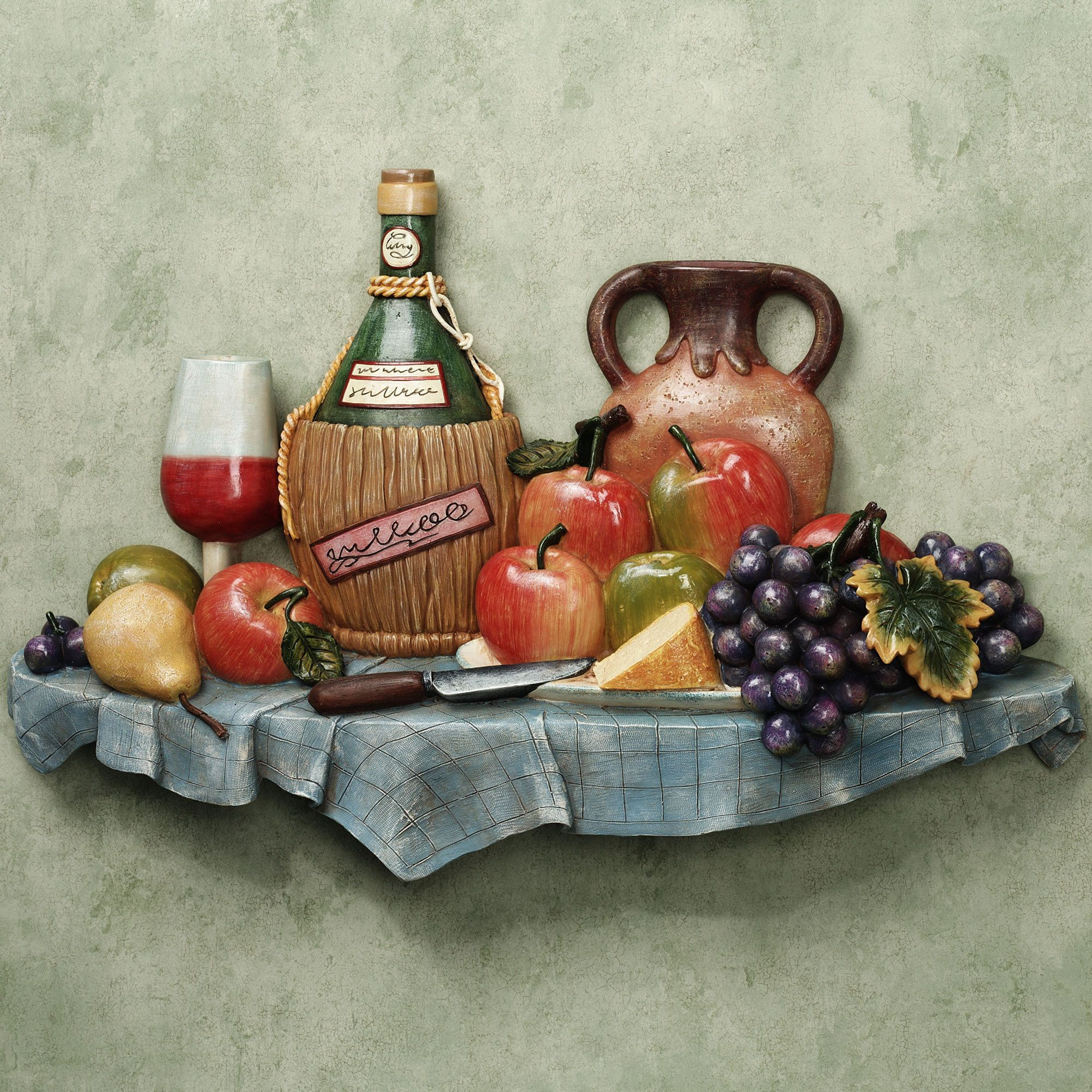 Italian Feast Kitchen Wall Plaque Home u003e Walls Wall decor