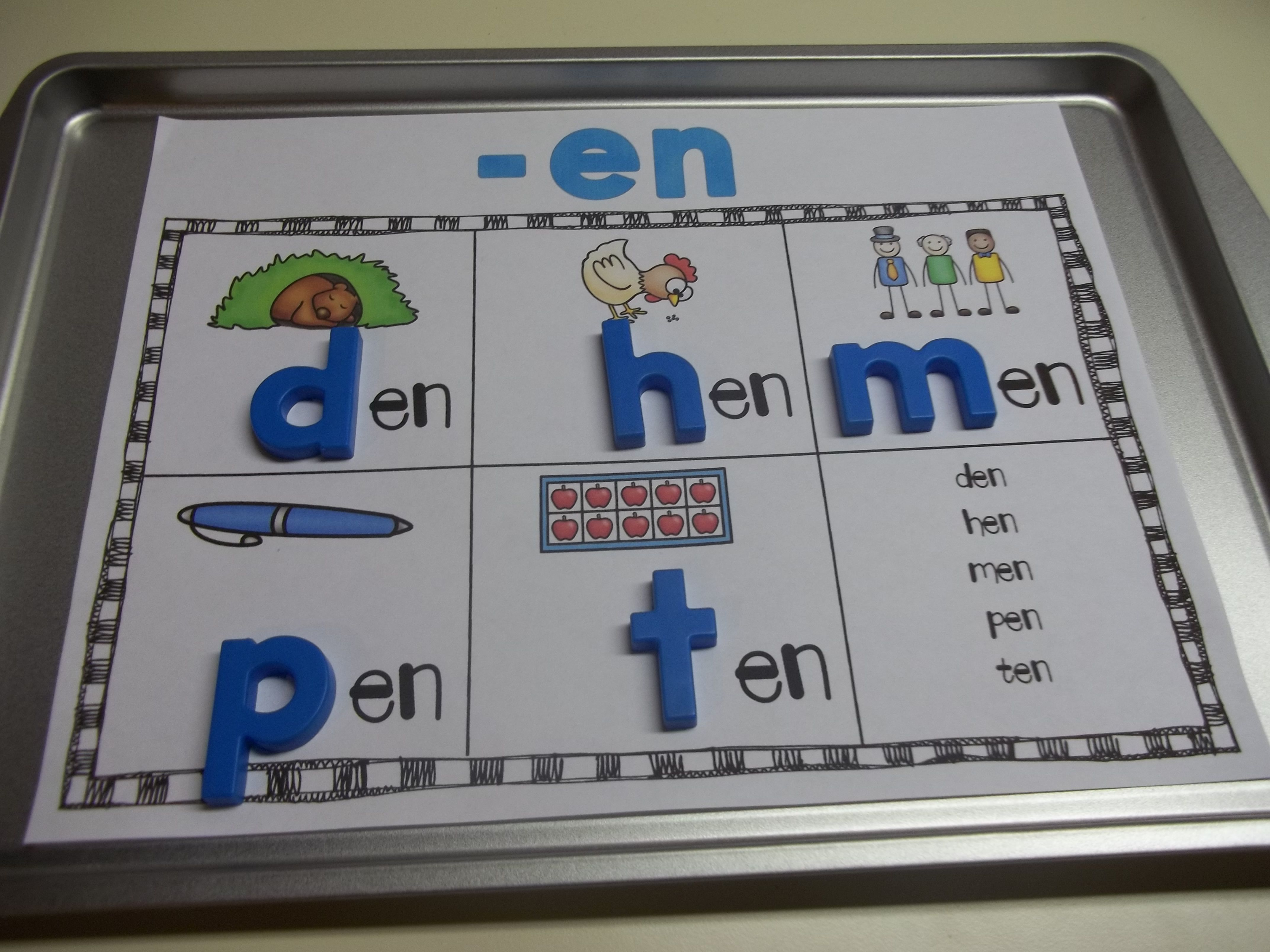 Cvc Word Families Mats Short Vowels