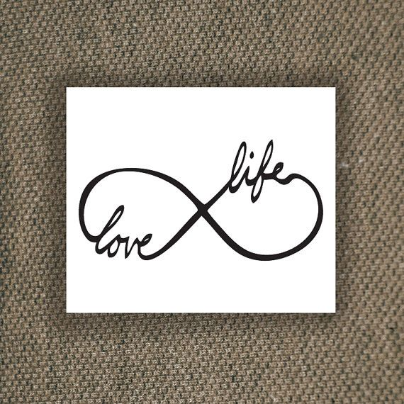 Infinity Temporary Tattoo Love Life Temporary Tattoo Love