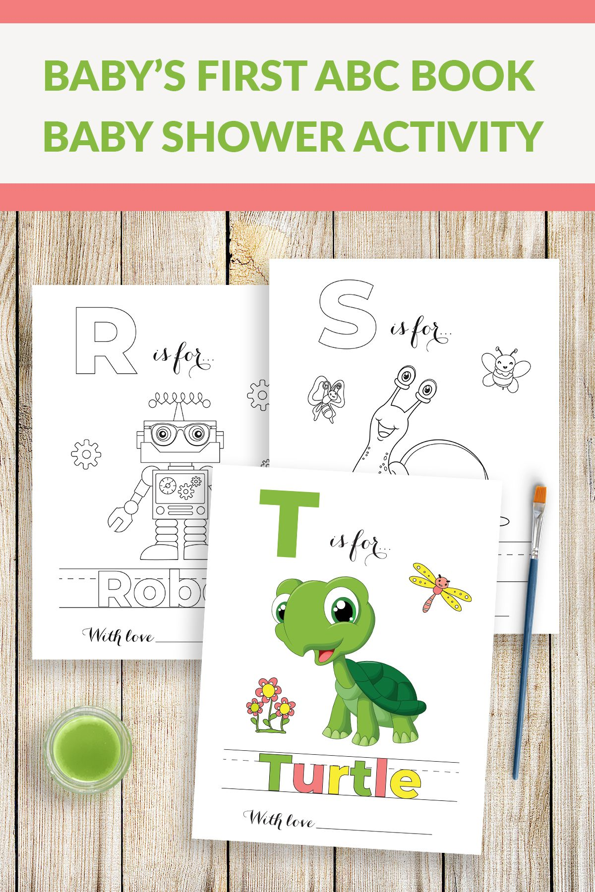 Baby S First Abc Book Babys First Alphabet Book Baby Etsy In 2020 Baby Alphabet Book Baby Shower Activities Alphabet Baby Showers