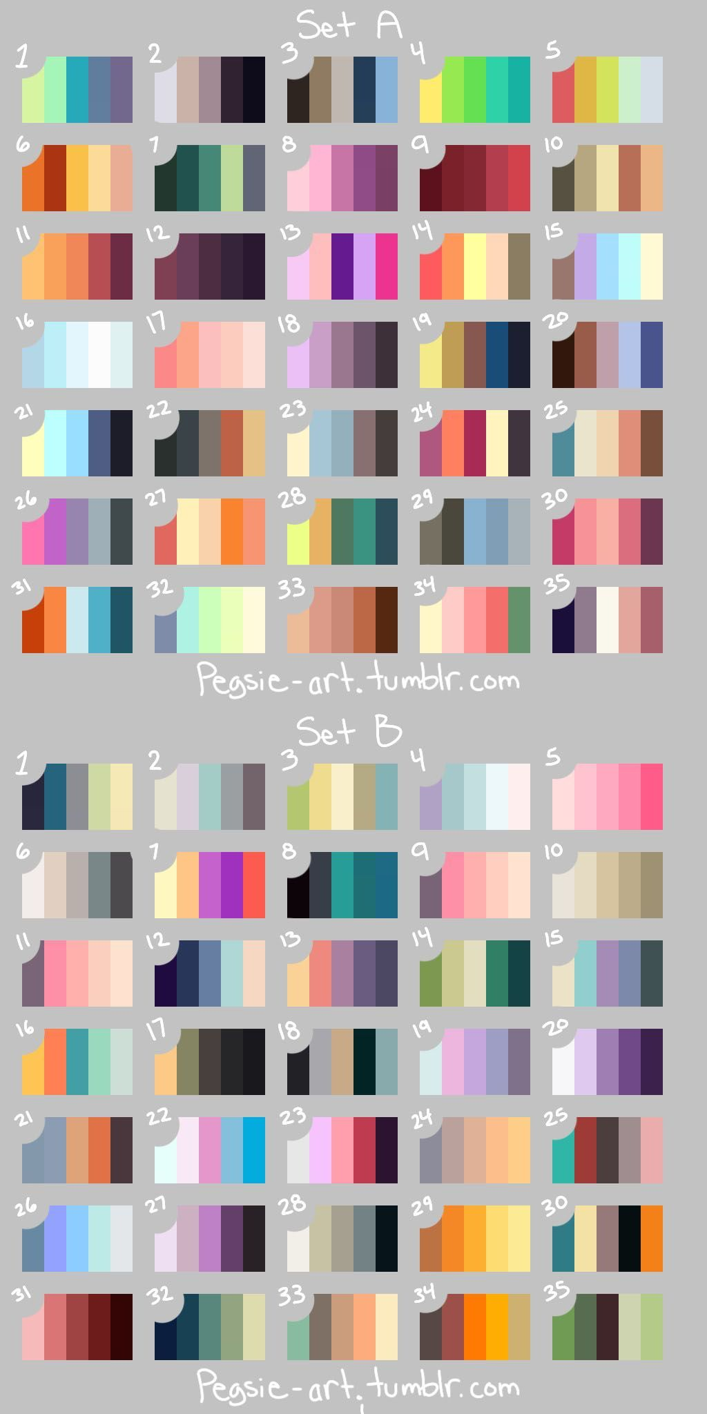 Saved Colour Selections