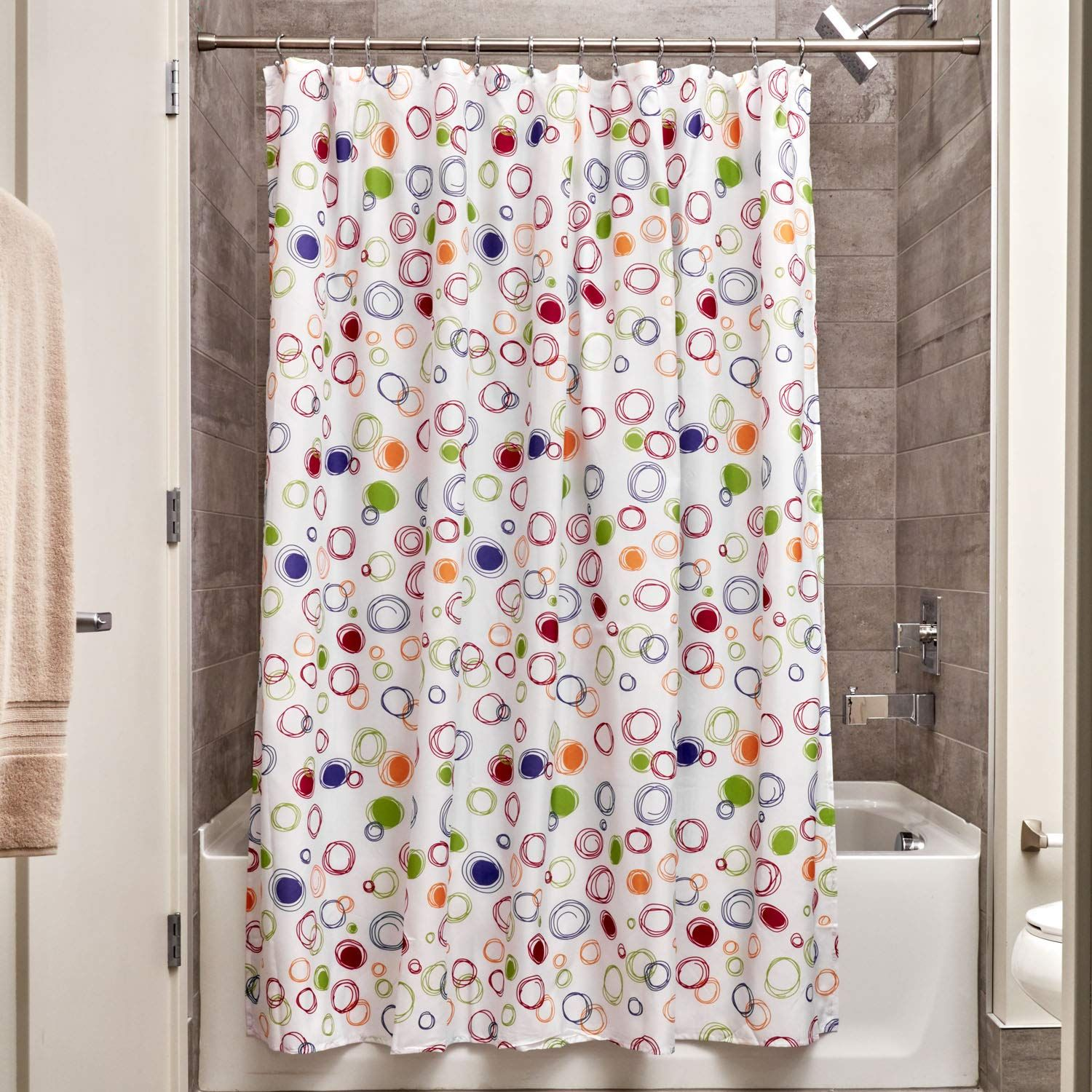 Interdesign Doodle Shower Curtain 72 Inch By 72 Inch Bright 72