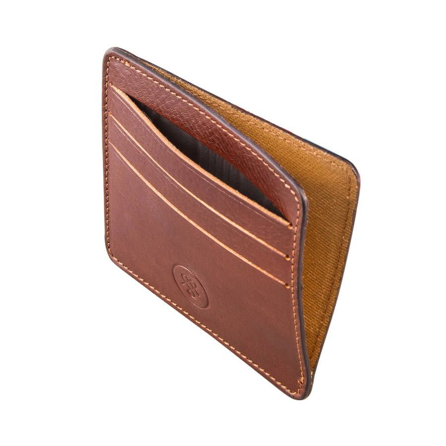 a6633c2d12870 Personalised Italian Leather Card Holder.  The Marco
