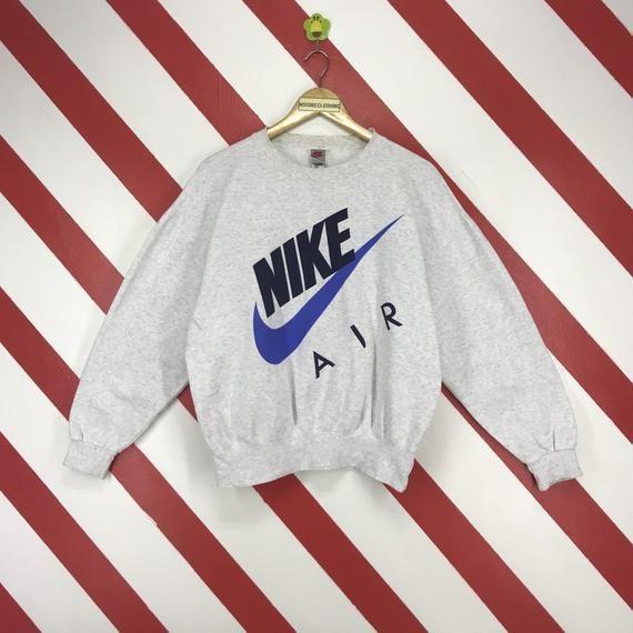 best loved 1f2f7 528f8 Vintage 90s Nike Air Sweatshirt Nike Sportwear Sweater Crewneck Nike Swoosh  Jumper Big Logo Printed